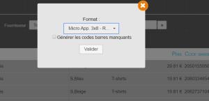 kerawen- génération des codes barre pour imprimer des étiquettes