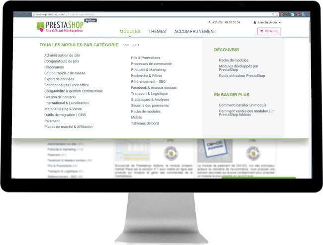 Site ecommerce modulaire par PrestaShop
